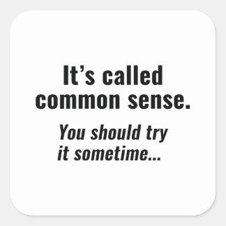Common Sense Square Sticker