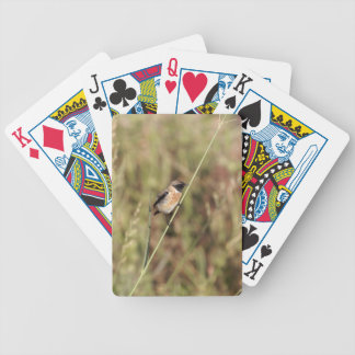 Common Stonechat (Saxicola torquatus) Bicycle Playing Cards