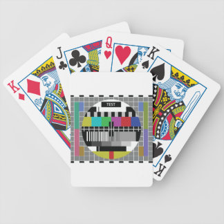 Common Test the PAL TV Bicycle Playing Cards