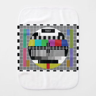 Common Test the PAL TV Burp Cloth