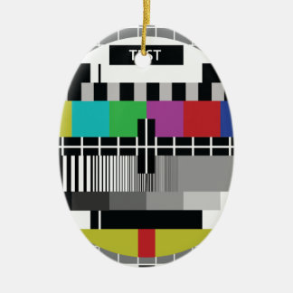 Common Test the PAL TV Ceramic Ornament