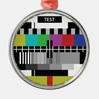 Common Test the PAL TV Metal Ornament