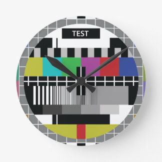 Common Test the PAL TV Round Clock