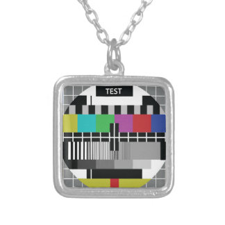 Common Test the PAL TV Silver Plated Necklace
