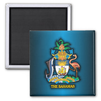 Commonwealth of the Bahamas COA Square Magnet