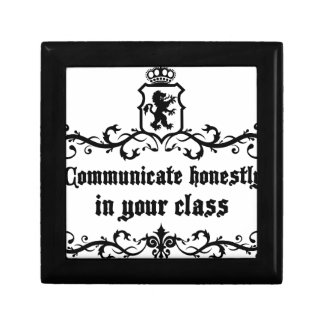 Communicate Honestly In Your Class Keepsake Box