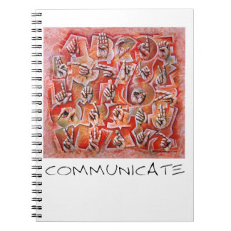 Communicate sign language notebook