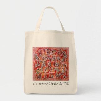 Communicate Tote Bag