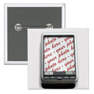 Communication Device Photo Frame Pinback Button