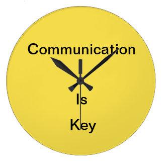 Communication is.... large clock