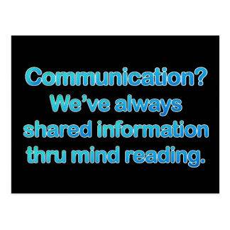 Communication Issues Postcard