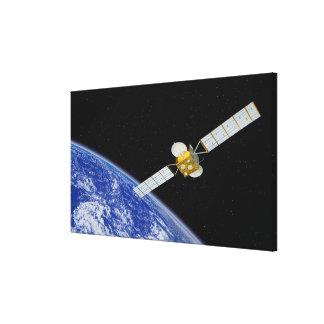 Communications Satellite Canvas Print