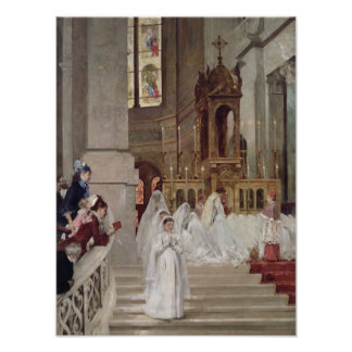Communion at the Church of the Trinity, 1877 Poster