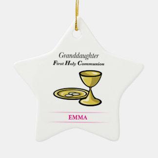 Communion Body and Blood Granddaughter Ceramic Ornament