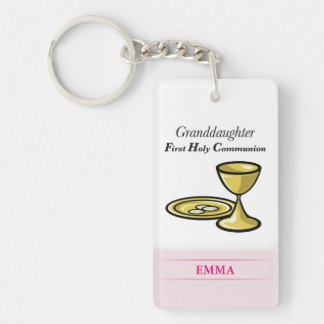 Communion Body and Blood Granddaughter Keychain