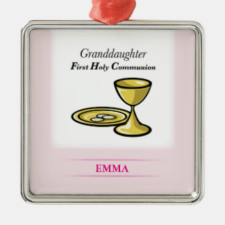 Communion Body and Blood Granddaughter Metal Ornament