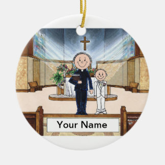 Communion, Boy - Male Priest Ceramic Ornament