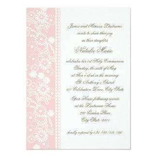 Communion Daisy Pink Card