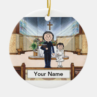 Communion, Girl - Female Priest Ceramic Ornament