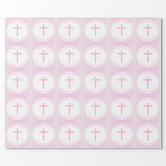 Communion Pink Watercolor Wrapping Paper