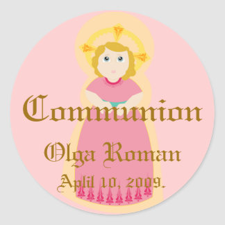 Communion Sticker-Customize Classic Round Sticker