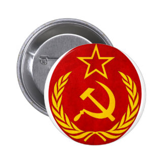 communism Russian symbol 2 Inch Round Button