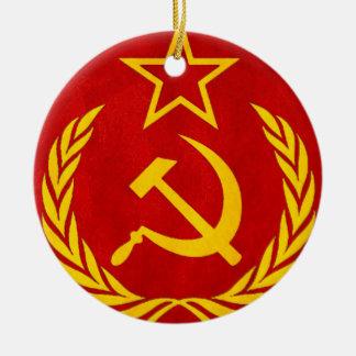communism Russian symbol Ceramic Ornament