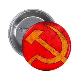 Communism USSR Hammer and Sickle Button