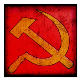 Communism USSR Hammer and Sickle Poster