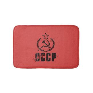Communist Black Vintage Flag Bath Mats
