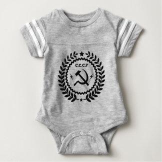 Communist CCCP Hammer Sickle Badge Baby Bodysuit