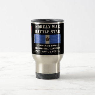 Communist China Aggression Campaign Stainless Steel Travel Mug