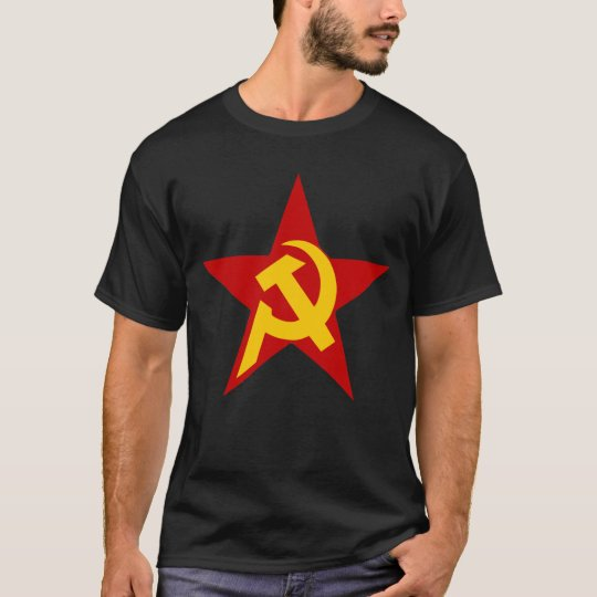Communist DHKC Star on Black T-Shirt
