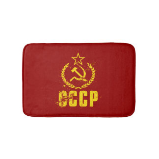 Communist Hammer & Sickle Vintage Flag Bath Mats