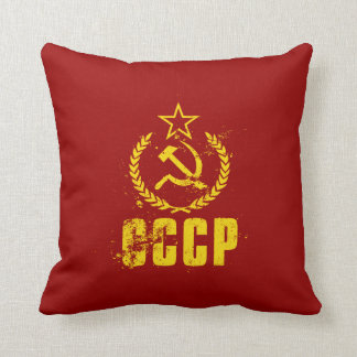Communist Hammer & Sickle Vintage Flag Pillows
