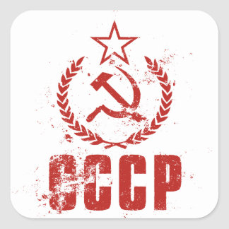 Communist Hammer & Sickle Vintage Flag Stickers
