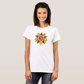 Communist Insignia Hammer and Sickle Colored T-Shirt