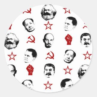 Communist Leaders Classic Round Sticker