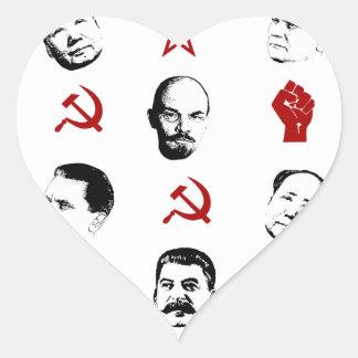 Communist Leaders Heart Sticker