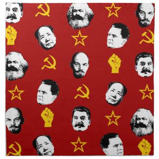 Communist Leaders Napkin