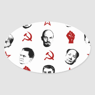 Communist Leaders Oval Sticker