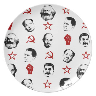 Communist Leaders Plate