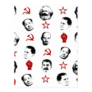 Communist Leaders Postcard