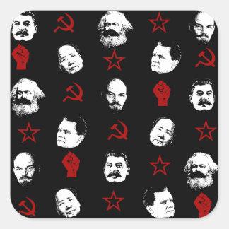 Communist Leaders Square Sticker