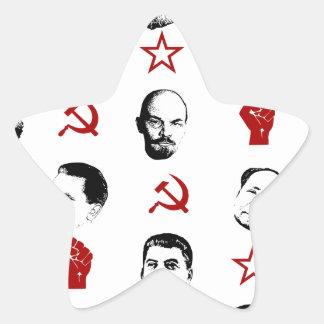 Communist Leaders Star Sticker