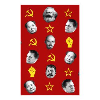 Communist Leaders Stationery