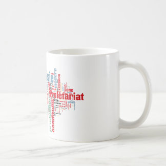 Communist Manifesto Word Cloud Coffee Mug