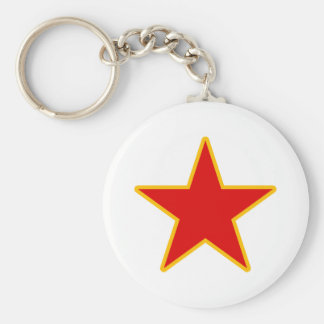 Communist Red Star Keychain