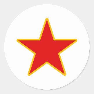 Communist Red Star Round Sticker
