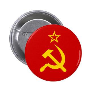 Communist Russia Flag USSR 2 Inch Round Button